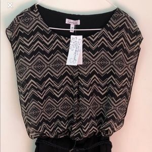 Forever 21 black/gray dress with belt